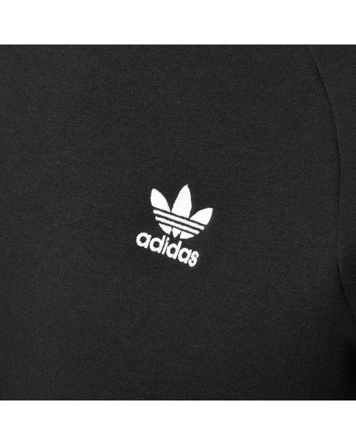 5427ea4eae9 Lyst - Adidas Originals Three Stripe Sweatshirt Black in Black for Men