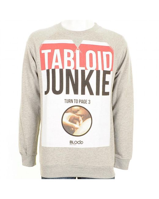 Blood Brother | Red Tabloid Junkie Sweatshirt Marl for Men | Lyst