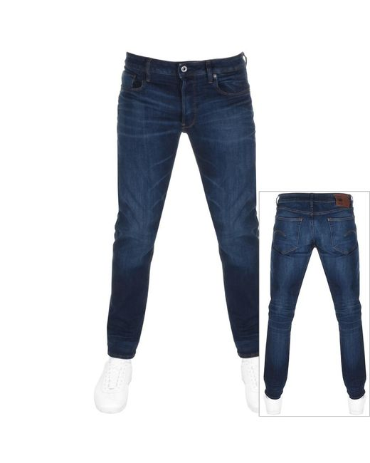 6e4df2ea5289fc Lyst - G-Star RAW Raw 3301 Straight Jeans Blue in Blue for Men