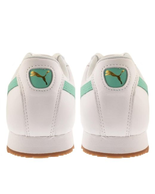 ... PUMA - Roma Trainers White for Men - Lyst ... 4ea09ac78