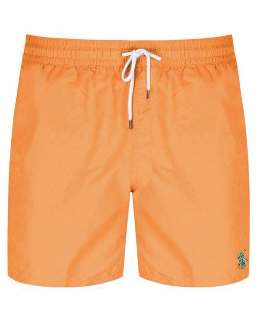 Ralph Lauren Traveller Swim Shorts Orange for men