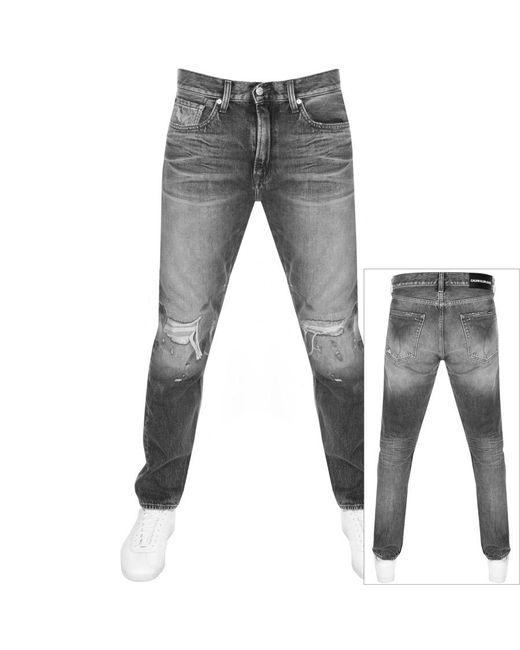 Calvin Klein Gray Jeans Athletic Taper Jeans Grey for men