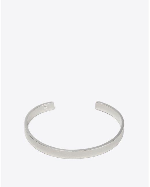 Maison Margiela - Metallic Silver Logo Bracelet for Men - Lyst