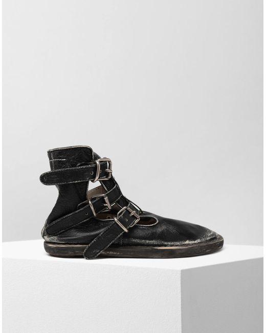 df9f92a42ace MM6 by Maison Martin Margiela - Black Fuss-bett High Top Sandals - Lyst ...