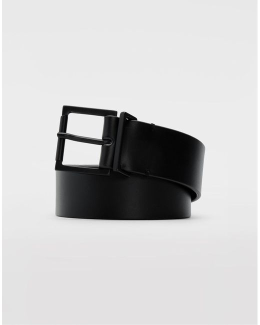 Maison Margiela - Black Leather Belt for Men - Lyst