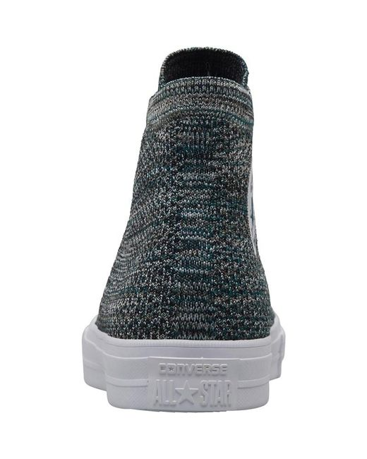 new styles cdfda aa1da ... Converse - Multicolor X Nike Flyknit Chuck Taylor All Star Hi Trainers  Dark Atomic Teal for ...