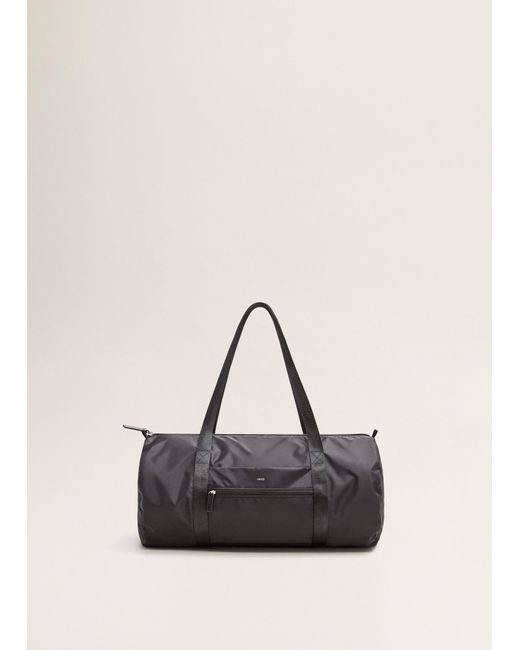 Mango - Black Foldable Travel Bag - Lyst ...