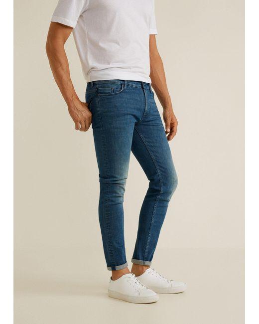 Mango - Green Skinny Faded Medium Wash Jude Jeans for Men - Lyst