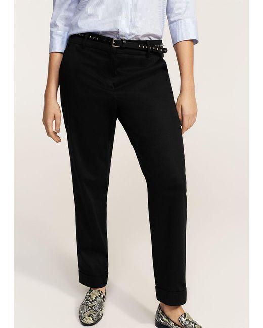 Violeta by Mango | Black Detachable Belt Trousers | Lyst