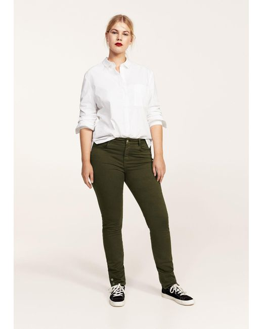 Violeta by Mango   Green Trousers   Lyst
