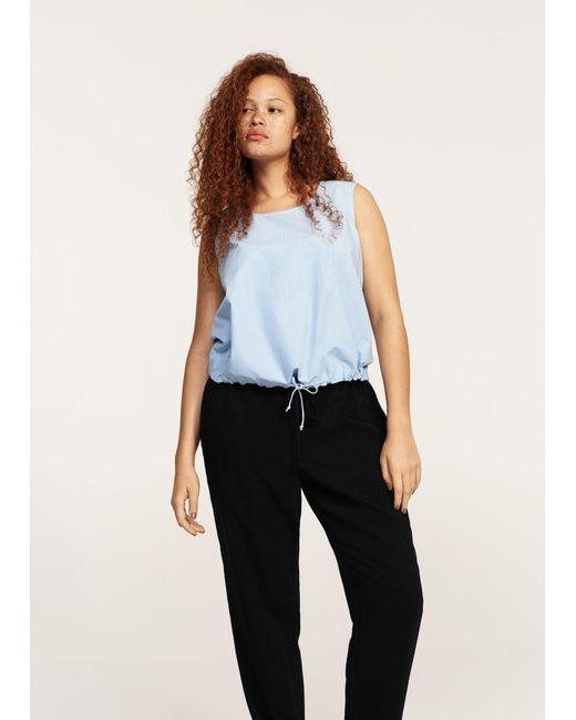 Violeta by Mango | Black Trim Baggy Trousers | Lyst