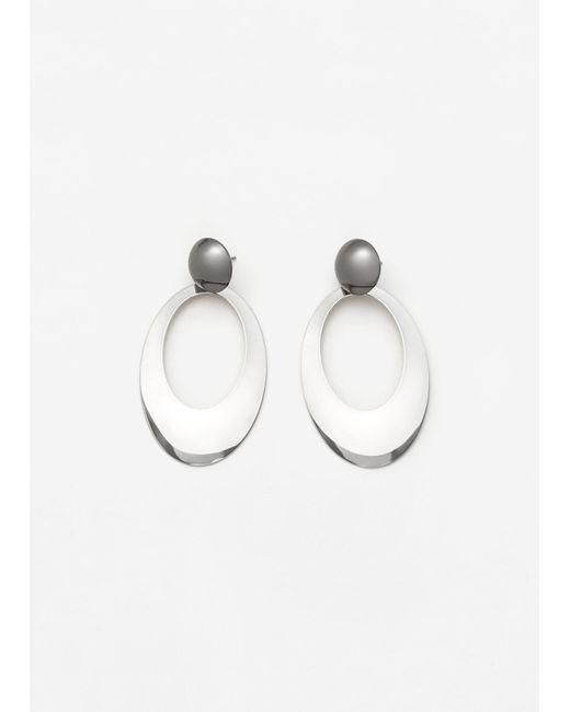 Mango   Metallic Metal Pendant Earrings   Lyst