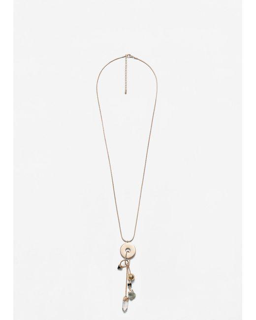 Mango | Metallic Mixed Pendants Necklace | Lyst