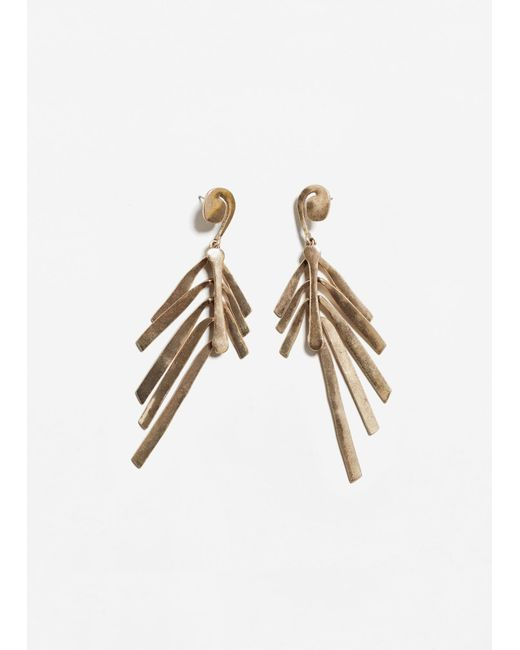 Mango   Metallic Multiple Chain Earrings   Lyst