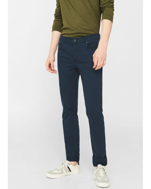 Mango | Blue Straight-fit Cotton Chinos for Men | Lyst