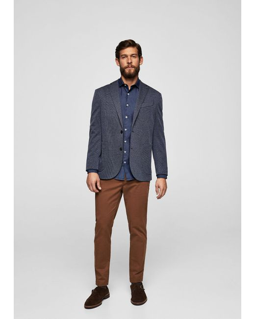 Mango | Brown Slim-fit 5 Pocket Cotton Trousers for Men | Lyst