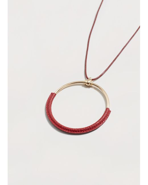 Violeta by Mango | Red Hoop Necklace | Lyst