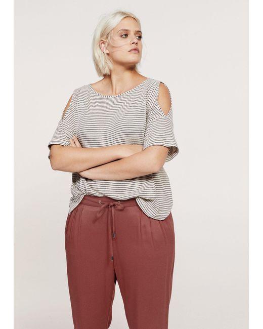 Violeta by Mango | Red Flowy Baggy Trousers | Lyst