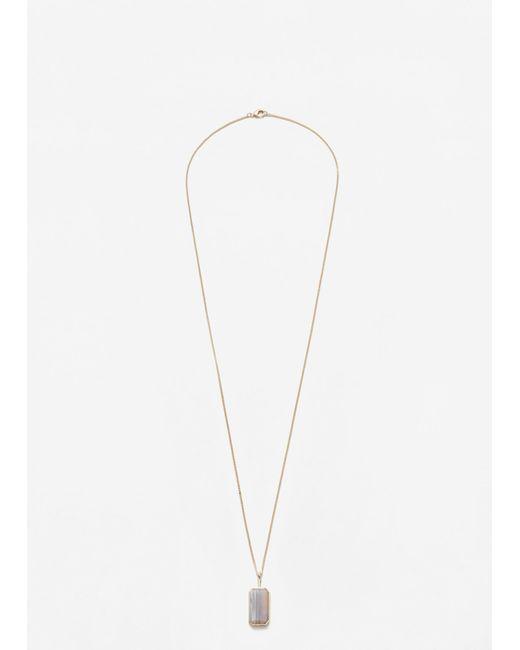 Mango | Metallic Stone Pendant Necklace | Lyst