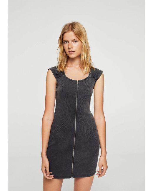 Mango   Gray Dress   Lyst