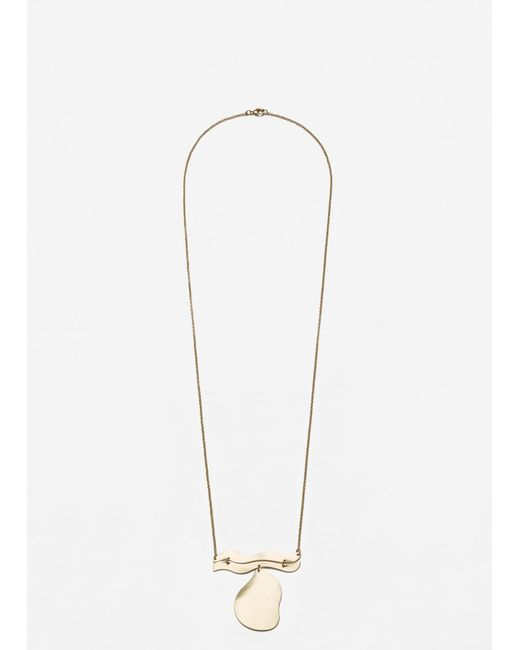 Mango   Metallic Pendant Chain Necklace   Lyst