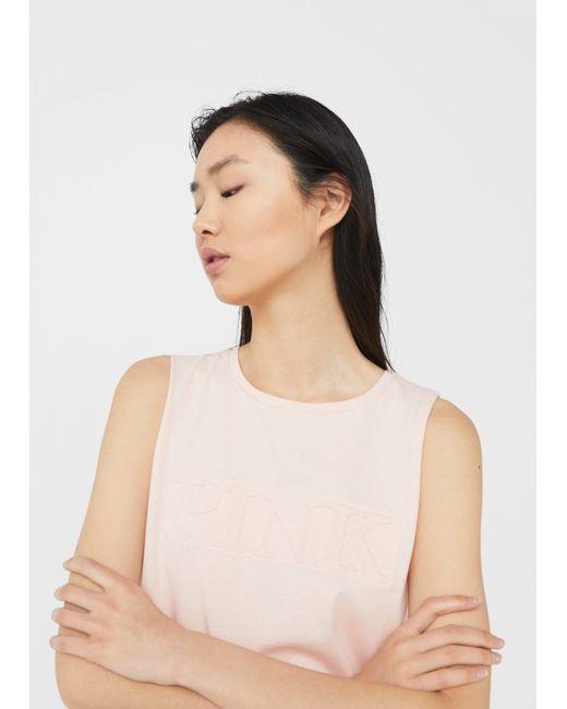 Mango   Pink Cotton Top   Lyst