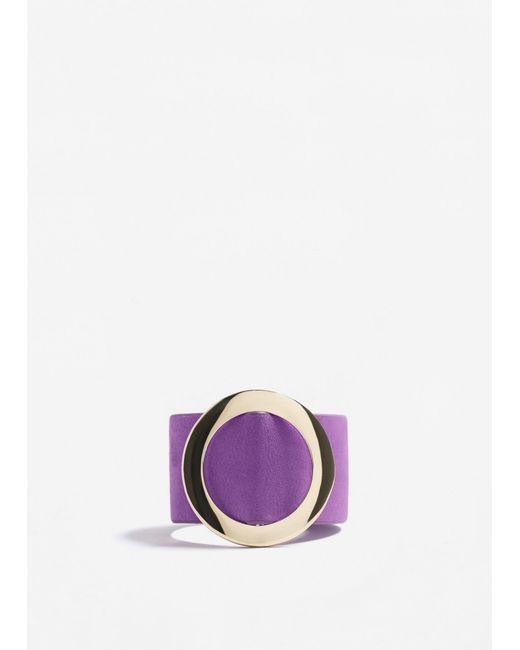 Mango | Purple Metal Appliqué Bracelet | Lyst