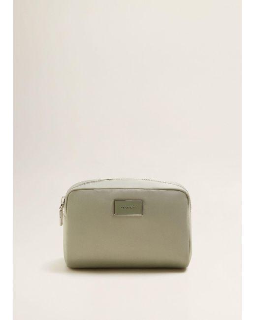 Mango - Green Zipped Cosmetic Bag - Lyst