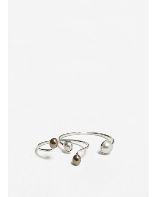 Mango | Metallic Rigid Bracelet Set | Lyst