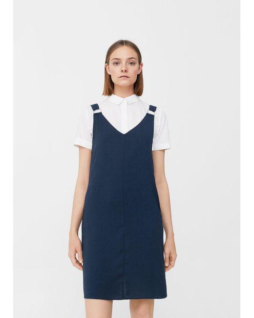 Mango   Blue Rings Strap Dress   Lyst