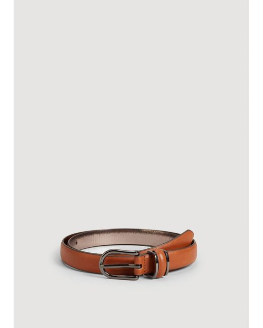 Mango - Brown Metal Buckle Belt for Men - Lyst