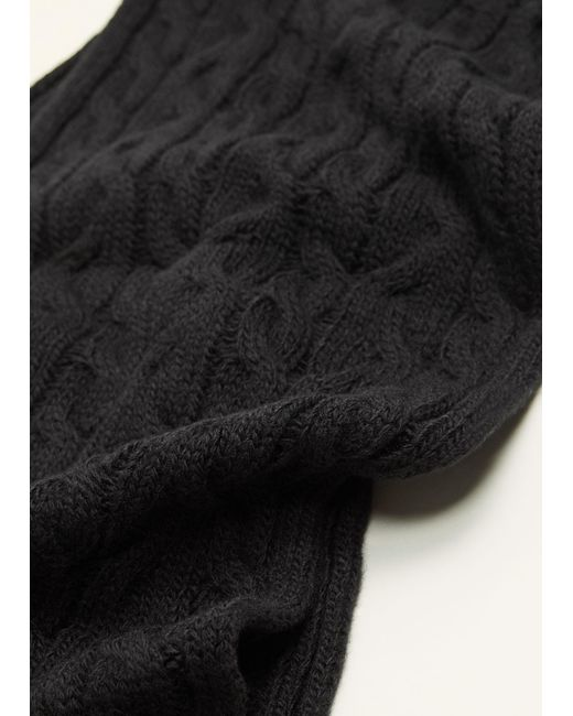 Mango - Black Cable-knit Scarf for Men - Lyst