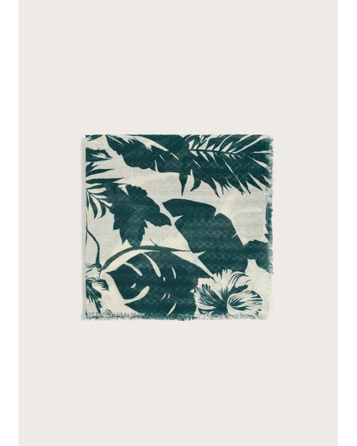 Violeta by Mango - Green Jungle Printed Foulard - Lyst