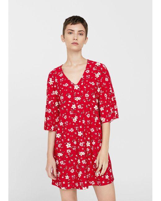 Mango | Red V-neckline Dress | Lyst