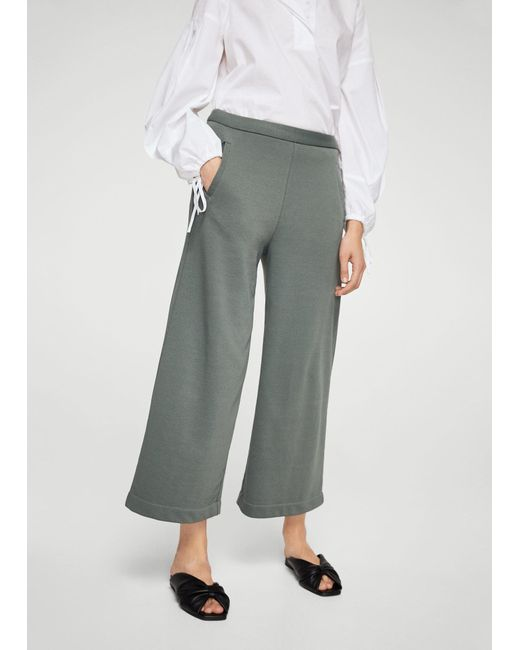 Mango | Green Pocket Cotton Trousers | Lyst