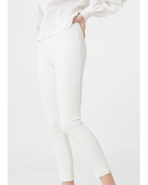 Mango | White Trousers | Lyst