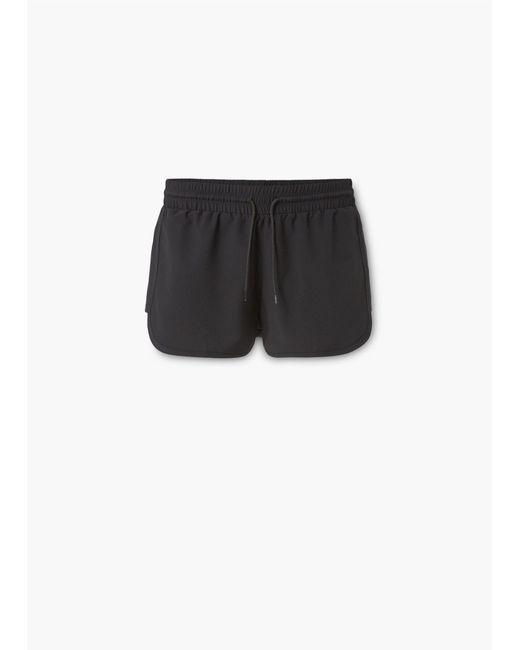Mango   Black Lightweight Active Shorts   Lyst