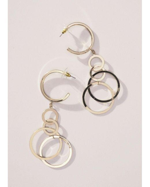 Mango - Metallic Metal Pendant Earrings - Lyst