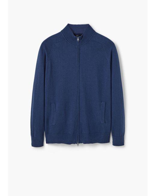 Mango   Blue Cotton Cashmere-blend Cardigan for Men   Lyst