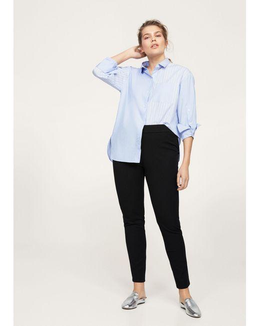 Violeta by Mango - Black Slim-fit Stretch Trousers - Lyst