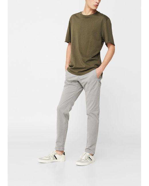 Mango | Gray Straight-fit Cotton Chinos for Men | Lyst