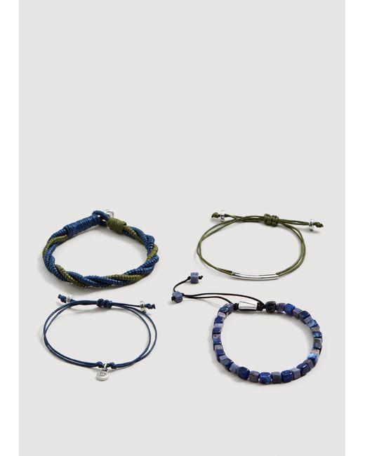 Mango - Blue Mixed Bracelet Set for Men - Lyst