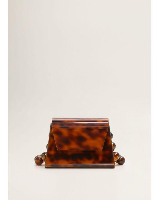 b0e876473f39 ... Mango - Black Mini Beaded Methacrylate Bag - Lyst ...