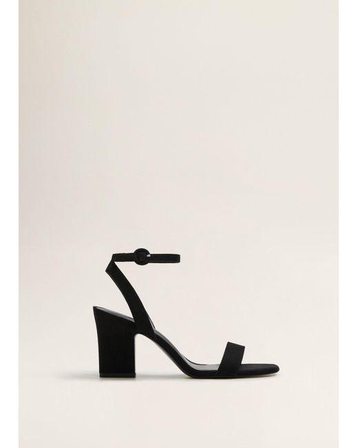 493901d576a Mango - Black Ankle-cuff Sandals - Lyst ...