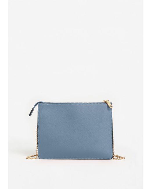 Mango | Blue Saffiano-effect Cross-body Bag | Lyst