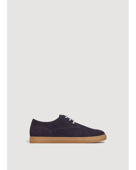 MANGO Lace-up suede sneakers XdkaTpcQ