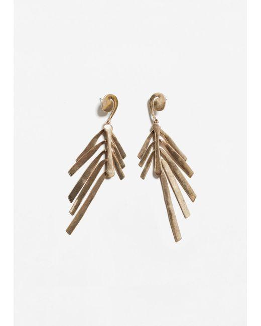 Mango | Metallic Multiple Chain Earrings | Lyst