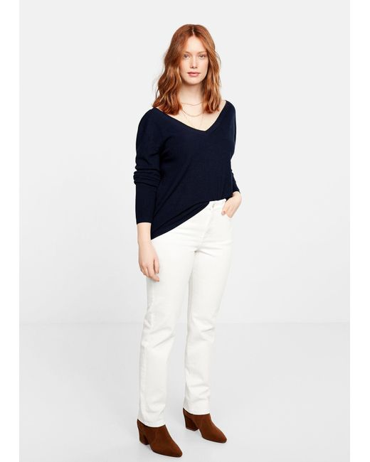 08c7a00be80f4c ... Violeta by Mango - White Straight-fit Theresa Jeans - Lyst ...