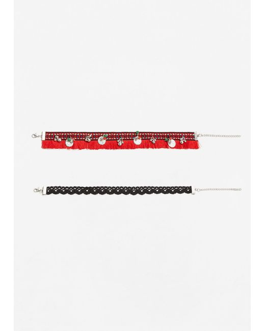 Mango | Red 2 Chokers Pack | Lyst