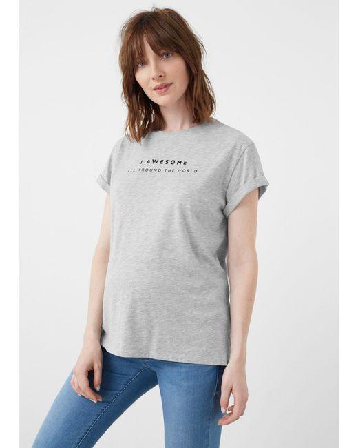 Mango | Gray T-shirt | Lyst